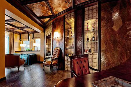 Cigar Lounge at Tschuggen Grand Arosa Switzerland