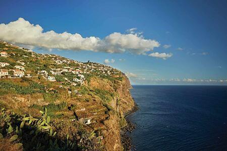 Craggy headland at Belmond Reids Palace Madeira Portugal