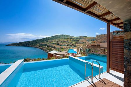 Deluxe Room Individual Pool at Daios Cove Crete Greece