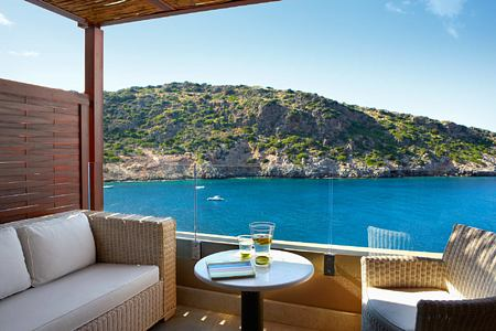 Deluxe Room view at Daios Cove Crete Greece