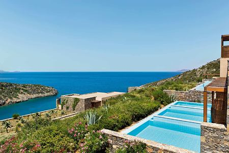 Deluxe Room with Individual Pools at Daios Cove Crete Greece