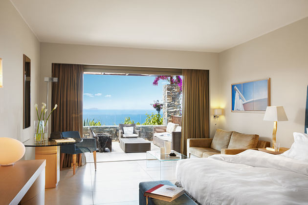 Deluxe bedroom with Seaview at Daios Cove Crete Greece