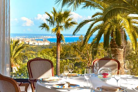 Dining at Castillo Son Vida Majorca