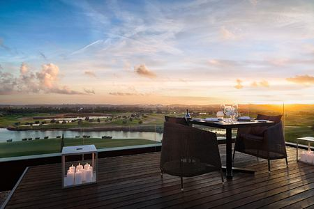 Dining in Presidential Suite at Anantara Vilamoura Algarve Portugal