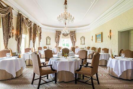 Dining room at Lucknam Park England