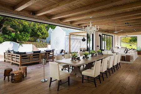 Dining room at Mont Rochelle Franschhoek South Africa