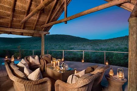 Dusk on the veranda at Great Fish River Lodge South Africa