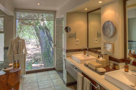 Forest Room bathroom at Phinda South Africa