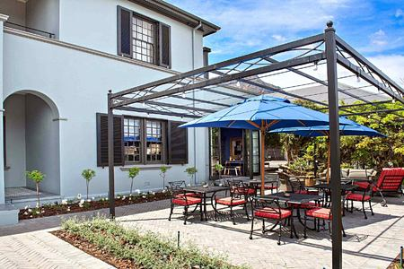 Front pergola at La Fontaine Franschhoek South Africa