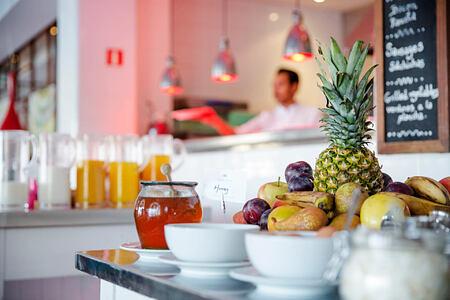 Fruit at breakfast at Esplendido Hotel Majorca