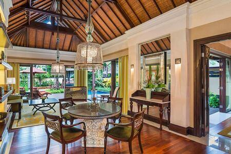 Gardenia villa living area at St Regis Bali Indonesia