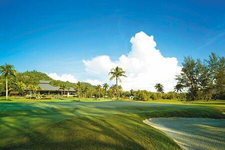 Golf course at Shangri la Rasa Ria Borneo Malaysia