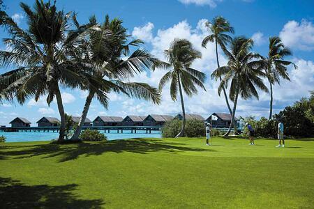 Golf course at Shangri la Villingili Maldives