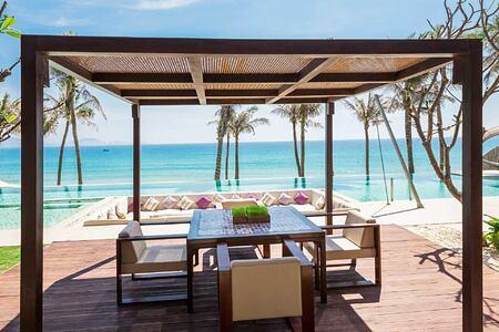 Grand Beachfront Villa sundeck at Fusion Resort Cam Ranh Vietnam