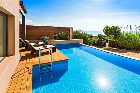 Grand Infinity Suite Sea Pool at Romanos Costa Navarino Greece