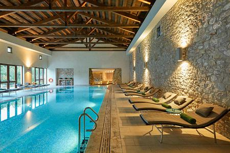 Health Club Pool at Romanos Costa Navarino Greece