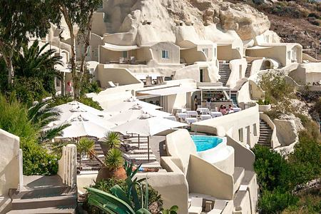 Hotel view at Vedema Santorini Greece