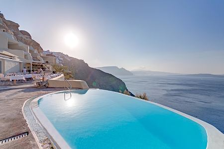 Infinity Pool at Vedema Santorini Greece
