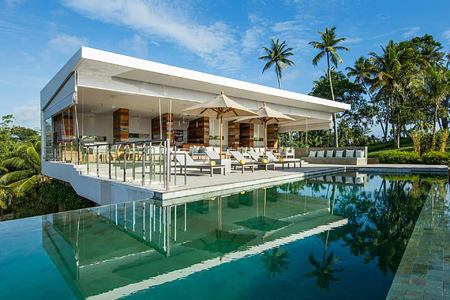 Infinity pool and terrace at Tri Lanka Sri Lanka