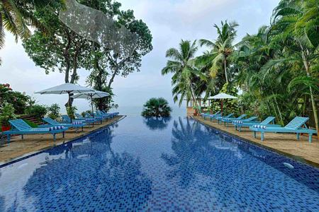Infinity pool at Somatheeram Kerala India