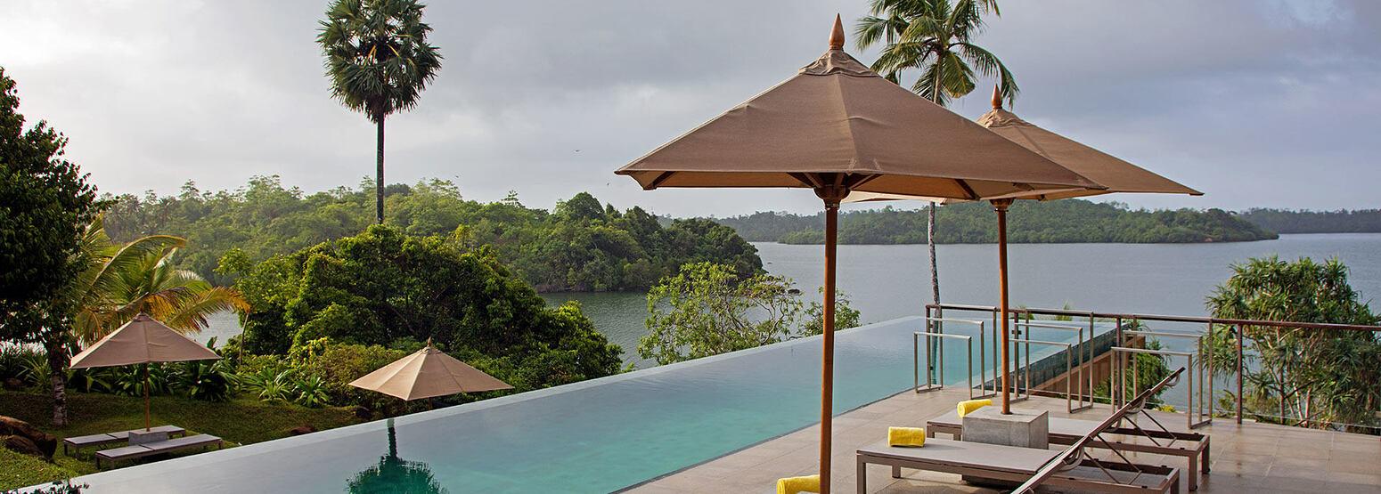 Infinity pool at Tri Lanka Sri Lanka