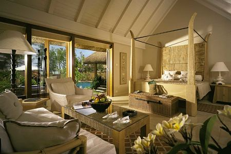 Inside a Luxury Villa with Private pool at Oberoi Mauritius