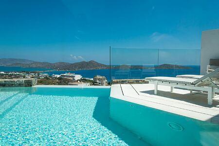 Junior Pool Suite view at Elounda Gulf Villas and Suites Crete
