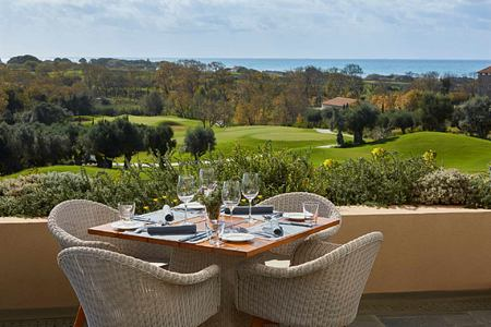 Landscape view with sea at Romanos Costa Navarino Greece