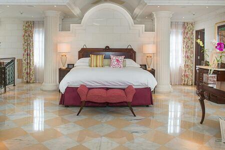 Large bedroom at Sandy Lane Barbados