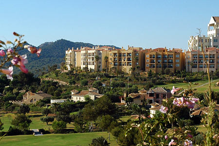 Las Lomas Village panoramic view at la Manga Club Spain