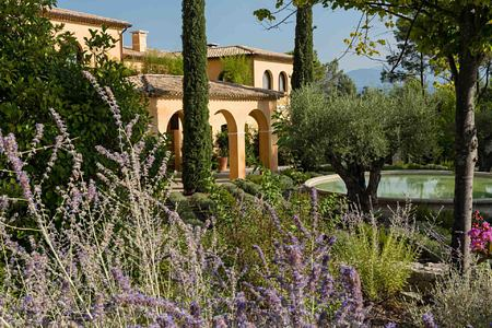 Lavender and gardens at Terre Blanche Golf and Spa Resort France