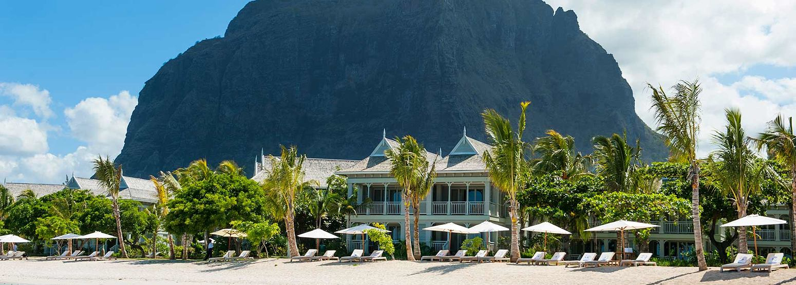 Le Morne and beach at St Regis Mauritius