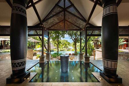Lobby at Constance Lemuria Resort Seychelles