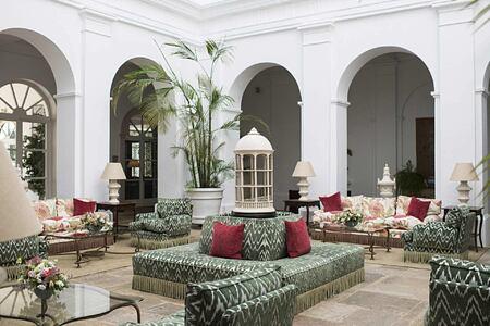 Lobby at Finca Cortesin Spain