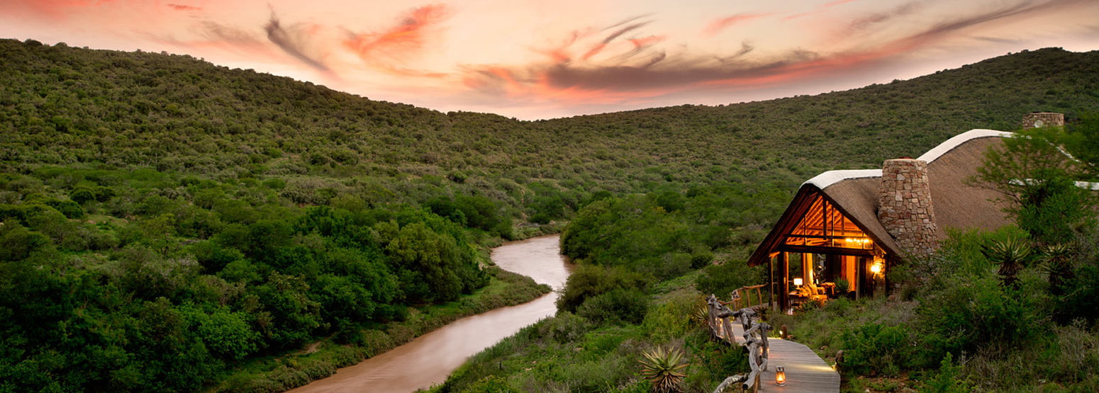 Lodge near river at Great Fish River Lodge South Africa