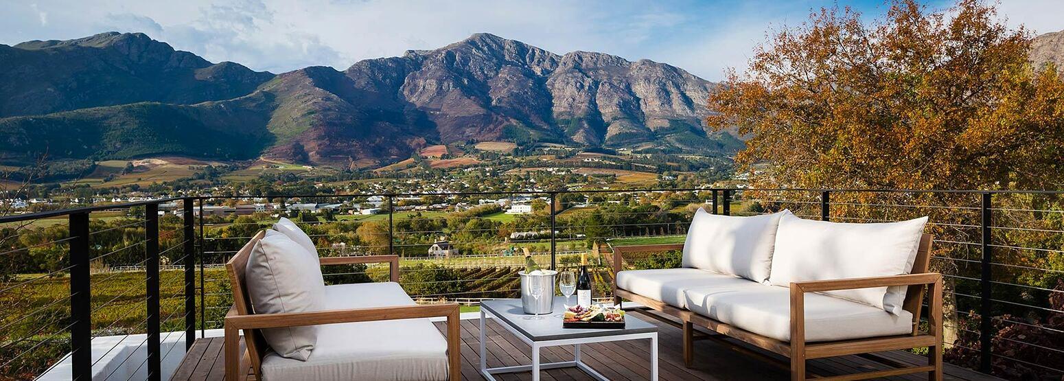 Loft Suite Terrace at Mont Rochelle Franschhoek South Africa