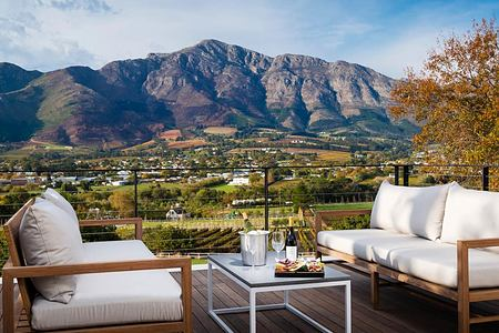 Loft Suite Terrace at Mont Rochelle Franschhoek South Africa