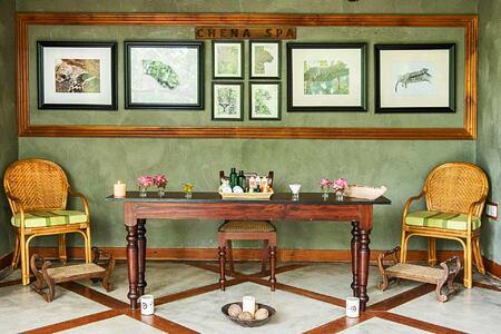 Spa lounge at Chena Huts Sri Lanka