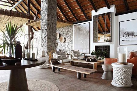 Lounge at Londolozi South Africa