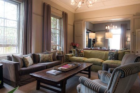 Lounge with view of dining room at Welgelegen Guesthouse South Africa