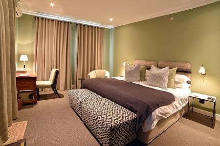 Luxury Suite bedroom at La Fontaine Franschhoek South Africa