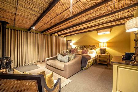 Luxury Suite with fireplace at La Fontaine Franschhoek South Africa