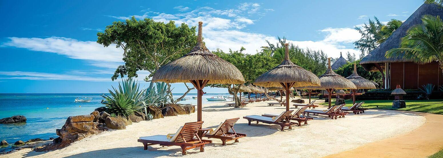 Main Beach View at Oberoi Mauritius