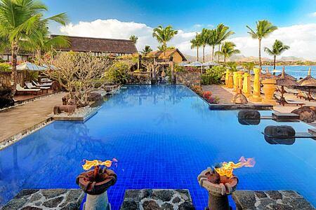 Main Swimming Pool at Oberoi Mauritius