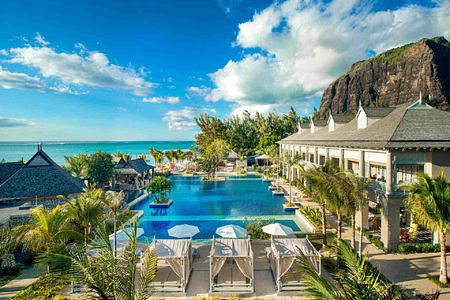 Manor House from the Beach at St Regis Mauritius