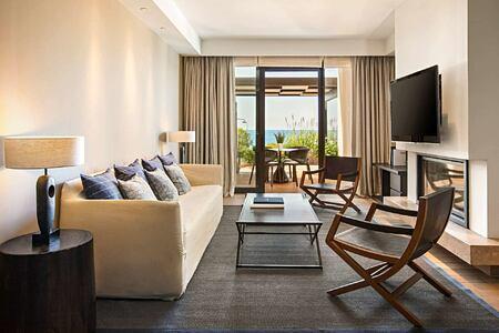 Master Infinity Villa Living Room at Romanos Costa Navarino Greece