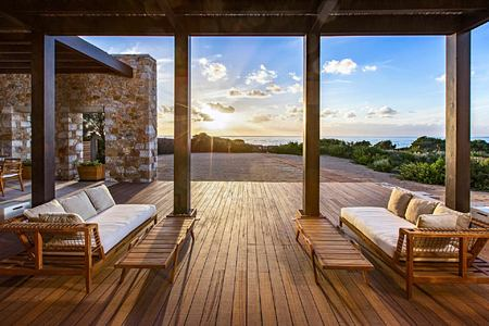Methoni Royal Villa Terrace at Romanos Costa Navarino Greece