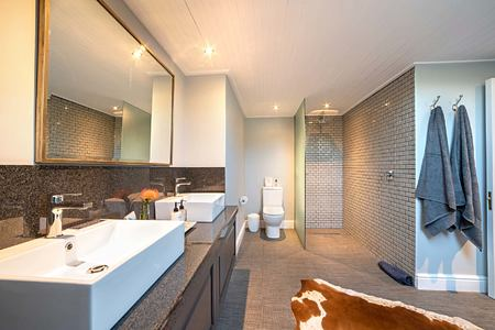 Mountain view suite bathroom at La Fontaine Franschhoek South Africa