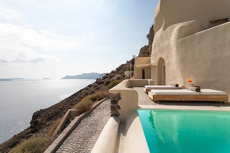Mystery Villa Private Pool at Vedema Santorini Greece