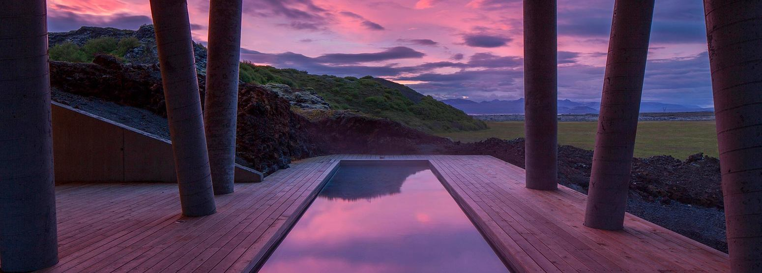 Natural pool Lava Spa at Ion Hotel Iceland